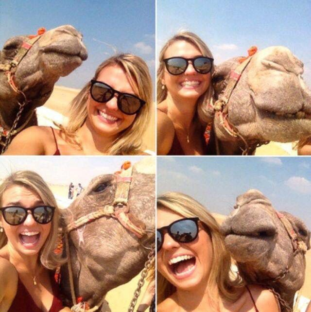 Photo with camel im egypt