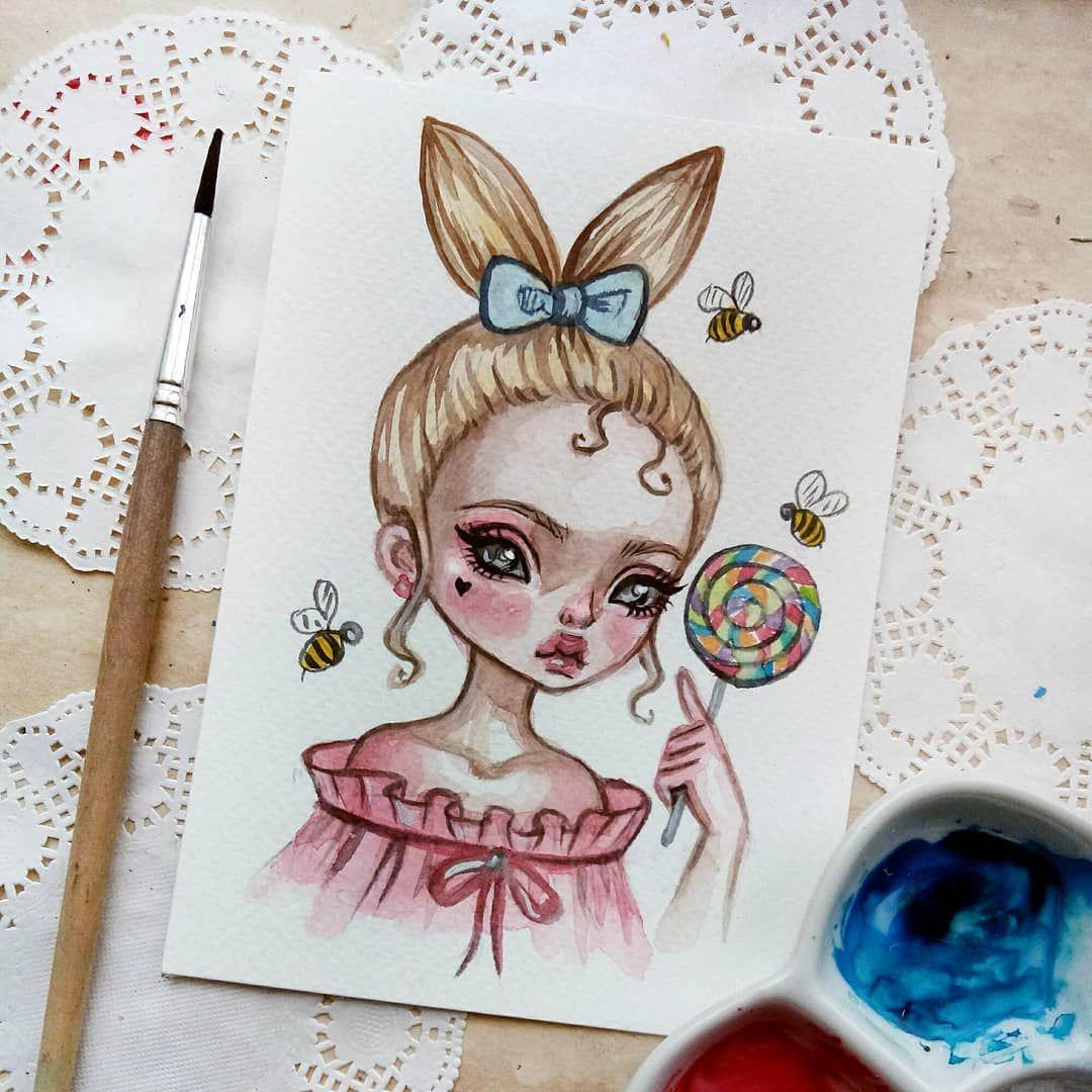 Милые картинки для срисовки в артбук акварелью