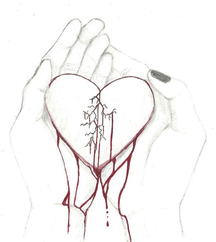 Broken Heart Of R3d Rav3n Art Creation Herz Zeichnen Tumblr Bilder Zeichnen Traurige Zeichnungen