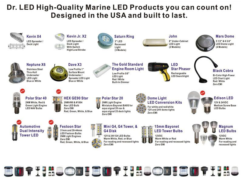 Doctor Led Dr Led Is A Designer And Manufacturer Of Led Based Lighting Solutions For Marine And Boating A Marine Led Lights Led Replacement Bulbs Led