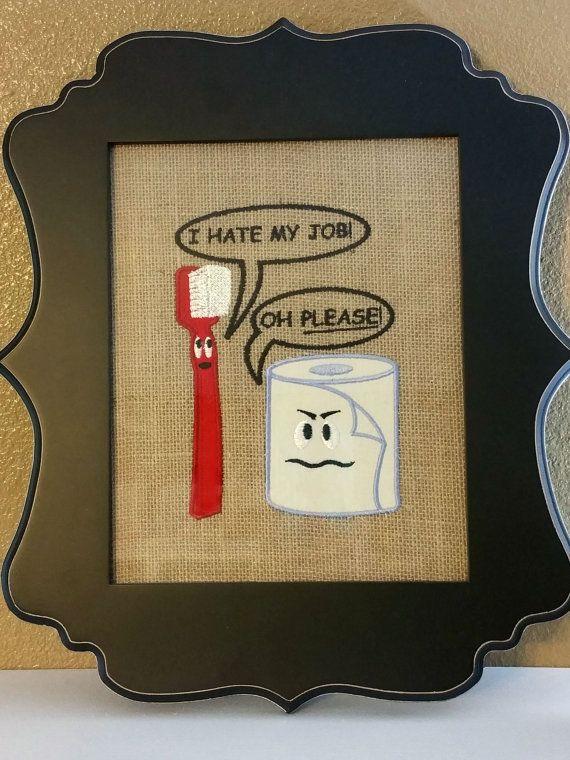 Funny Bathroom Art, Funny White Elephant Gift, Rustic Bathroom Decor ...