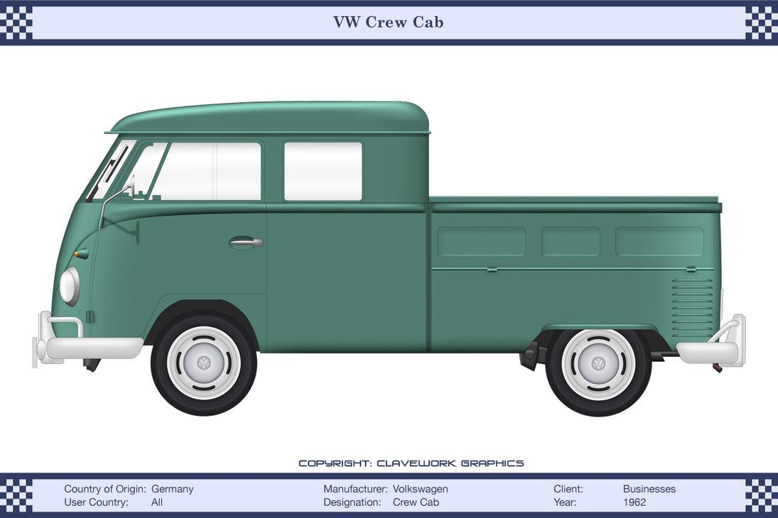 VW Crew Cab Turquoise by WS-Clave