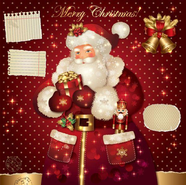 santa claus christmas cards - Santa Claus Christmas Cards