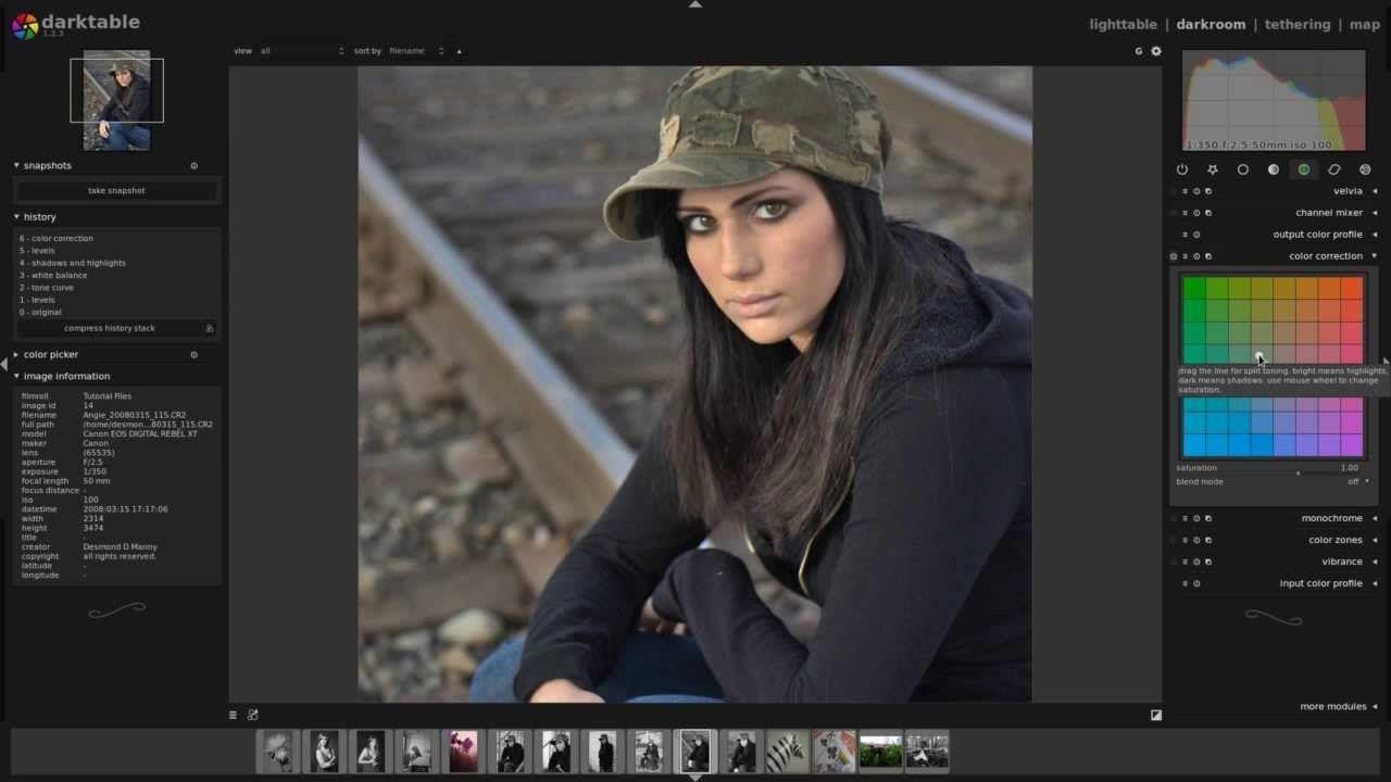 Darktable and Gimp: Editing A Portrait Quickly | Darktable