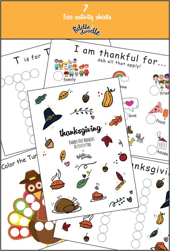 Free Dot Marker Printables for Thanksgiving. Gratitude. I am ...