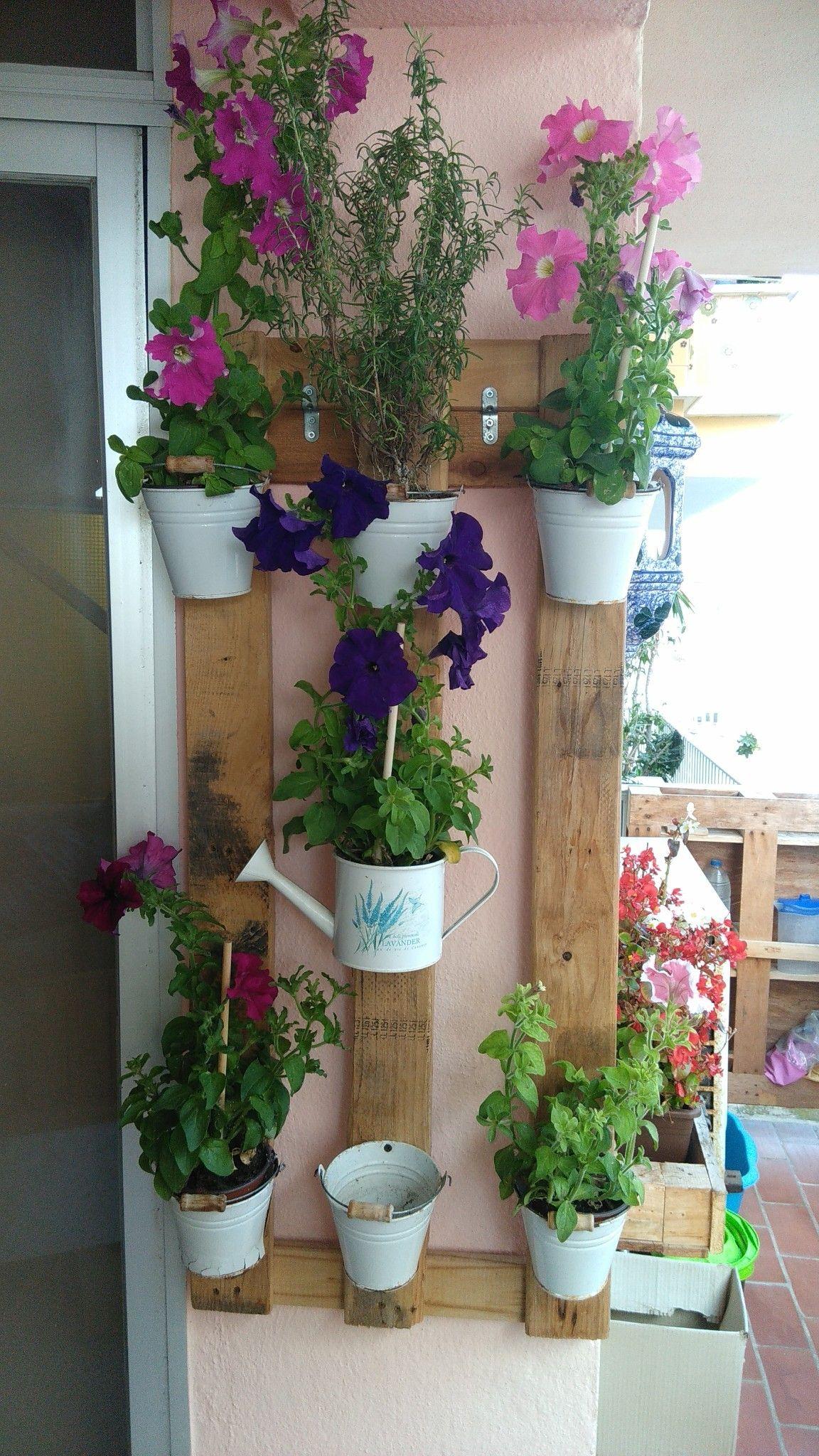 Jardinera Colgante Fabricacion Propia Con Palets Pinterest - Jardinera-colgante