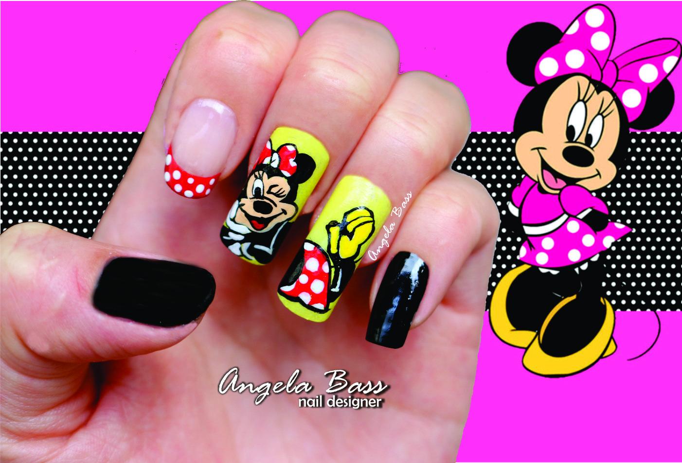 uñas minnie mouse/ minnie mouse nails   Uñas Angela Bass   Pinterest ...