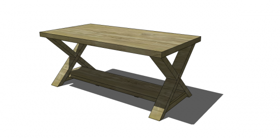 Free Diy Furniture Plans To Build An X Coffee Table Diy