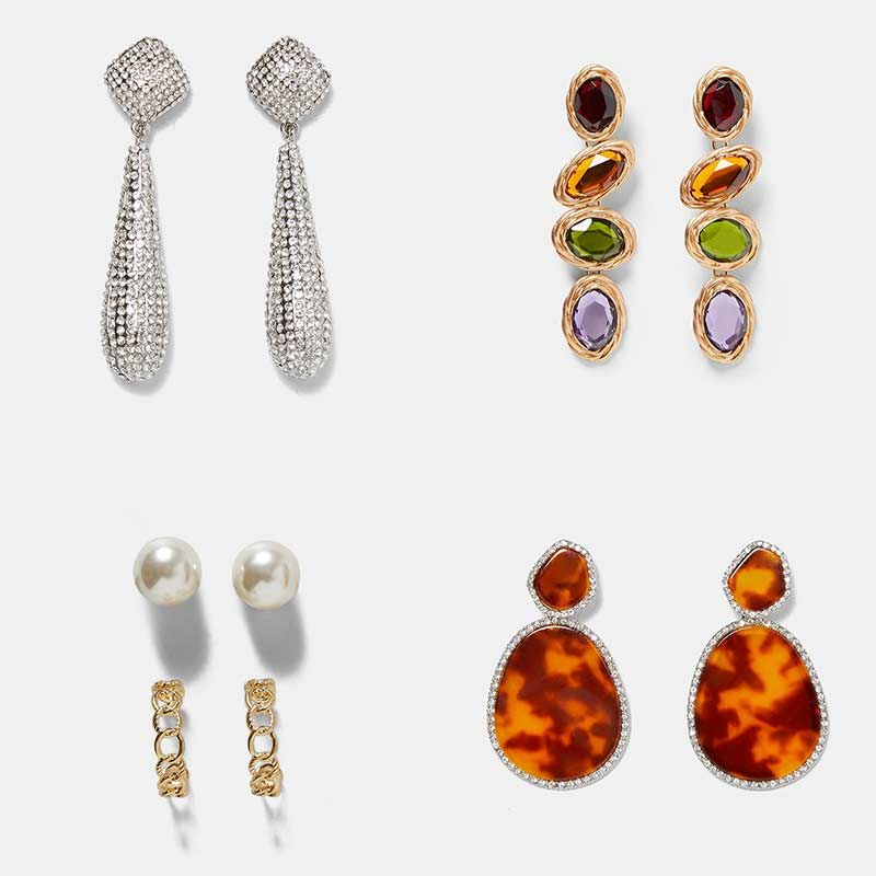 d9011d5a6a3efa Dvacaman ZA Big Rectangle Metal Drop Earrings Women Party Hanging Earrings  Handmade Trendy Statement Jewelry Gifts Female Bijoux,#Drop#Metal#Women