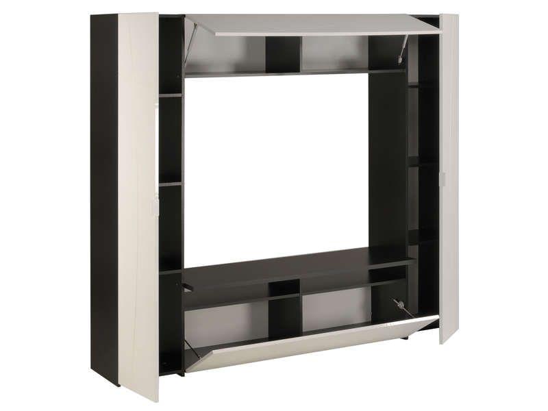 meuble tv think coloris blanc noir pas cher cest sur conforamafr large choix prix discount et des offres exclusives meuble tv sur conforama fr - Meuble Tv Noir Et Blanc Conforama