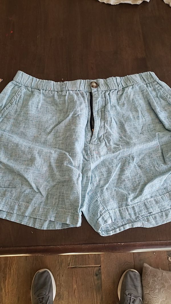 Light Blue Linen Mens Large Chubbies shorts. #lightblueshorts Light Blue Linen Mens Large Chubbies shorts. #lightblueshorts