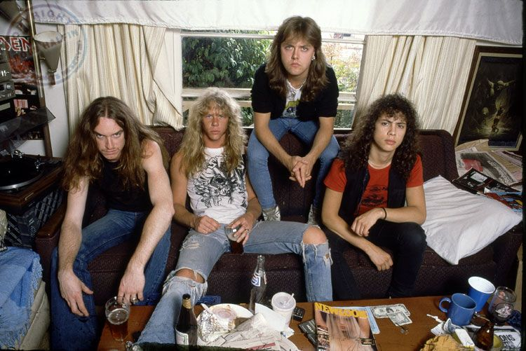 Metallica, era Master Of Puppets, por Ross Halfin