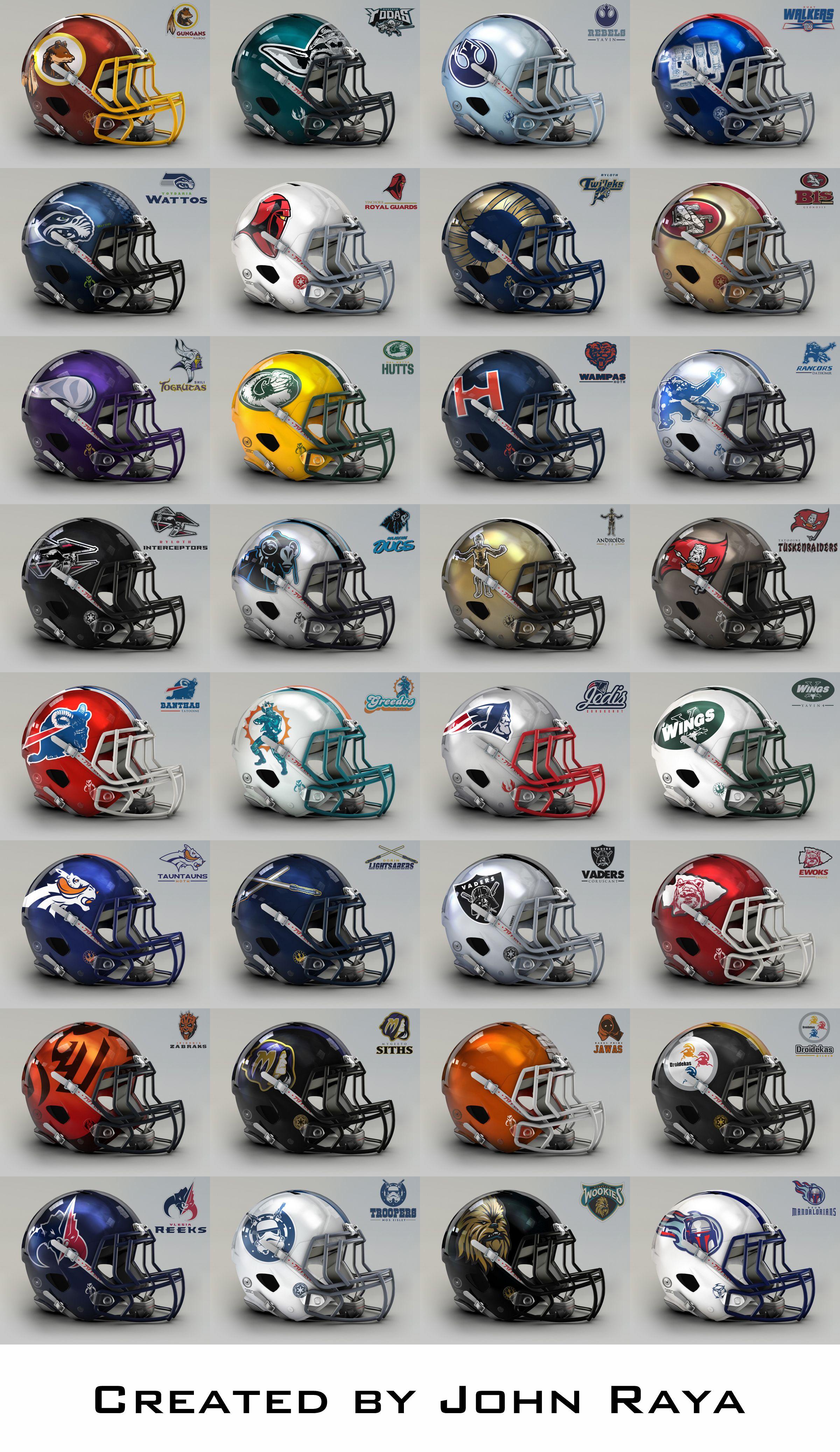 football nfl teams star wars helmets team helmet logos american national poster league sports them names printable raya sport clipart