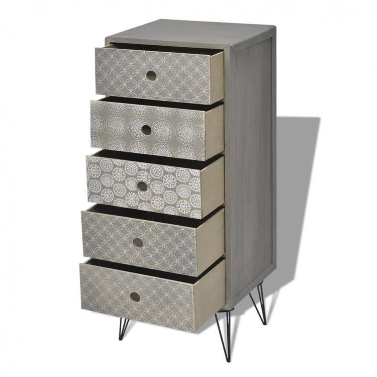 Best Tall Chest Of Drawers Vintage Slim Wood Grey Cabinet Metal 400 x 300