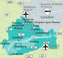 Guilford England Map.Map Of Surrey I Was Happy In Guildford Pinterest Surrey