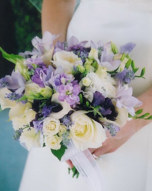 Lavender Wedding Bouquets | the sweet pea which signifies lasting ...