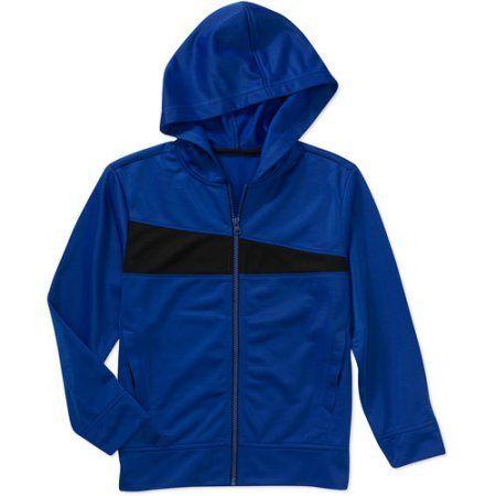 Starter Boys' Tricot Mesh Hoodie Track Jacket, Multicolor