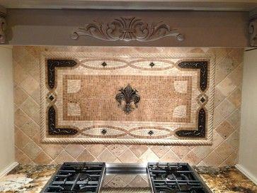 Fleur de Lis Mural - traditional - kitchen tile - cincinnati ...