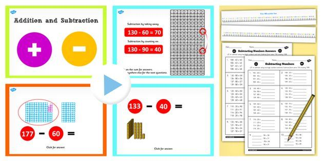 Year 2 Subtracting 2 Digit Numbers And Tens With Same 10 Crossing Subtraction Teaching Packs Teaching Subtraction worksheets year twinkl