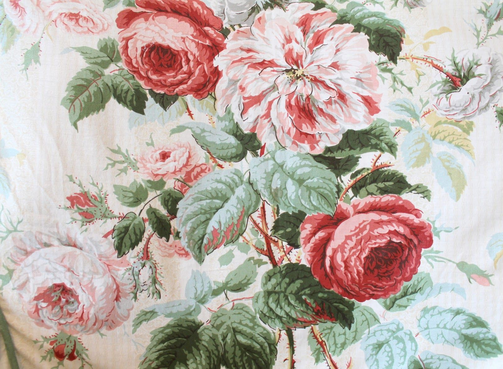 Vintage Cabbage Rose Fabric Cabbage Roses and Stuff
