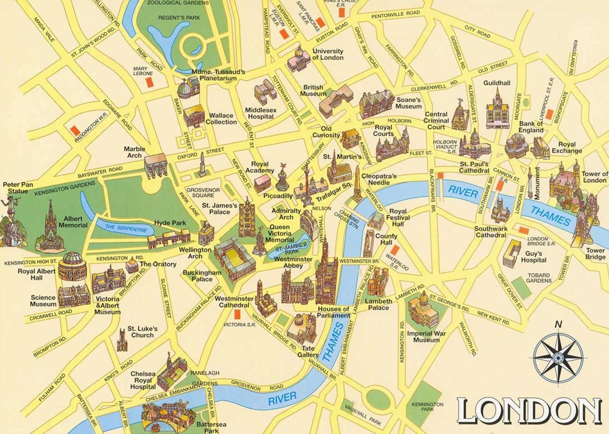 Cartina Di Londra.Mappa Di Londra Cartina Di Londra London Map London