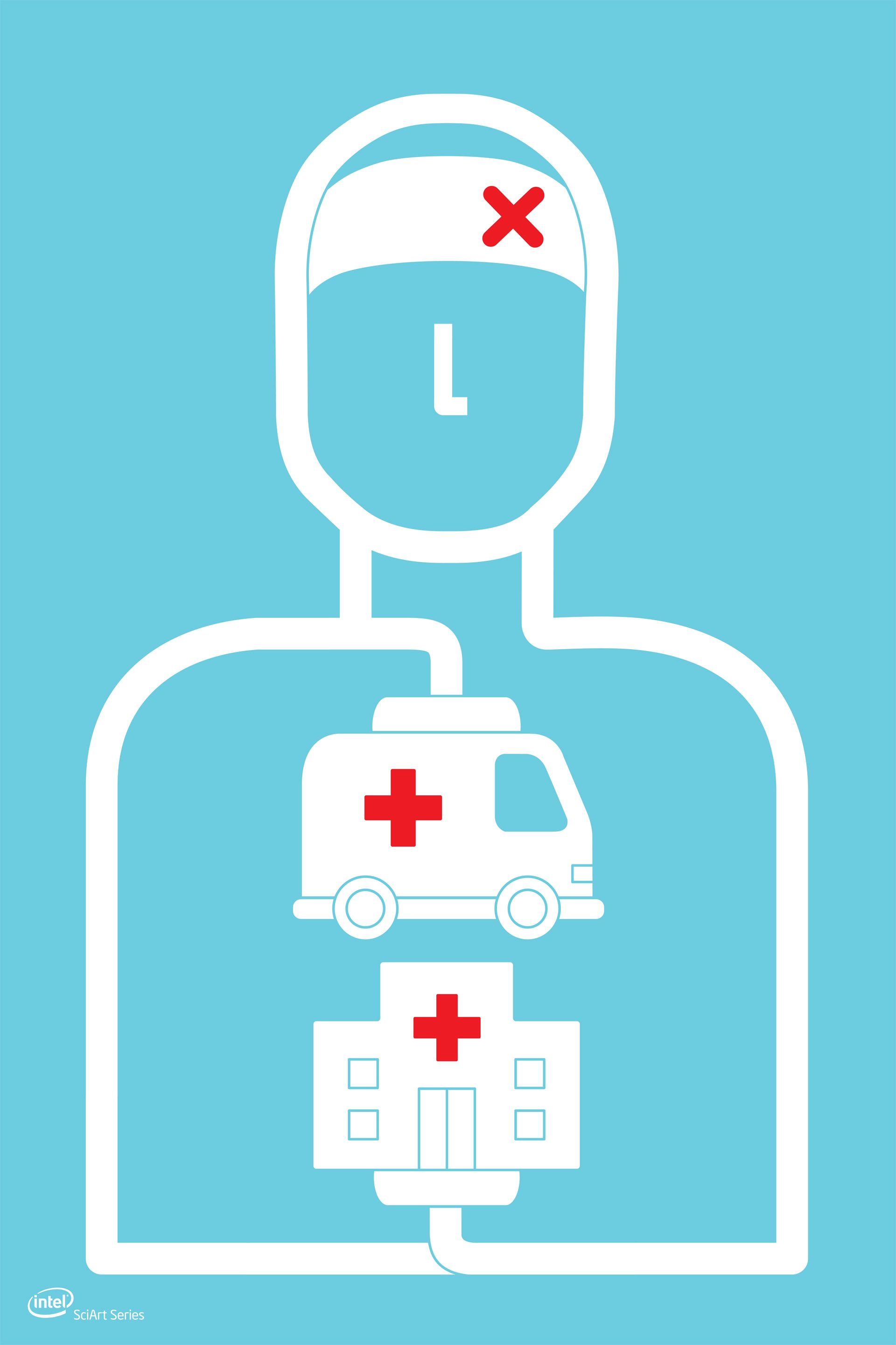 Poster design medical - Real Time Medical Data Transfer System Ambulance Communication Graphic Design By Artist Thomas Ng