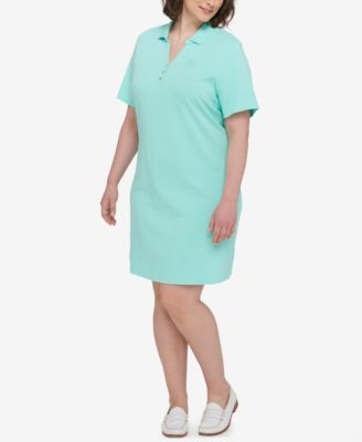 TOMMY HILFIGER Tommy Hilfiger Plus Size Polo Shirtdress. #tommyhilfiger #cloth # dresses