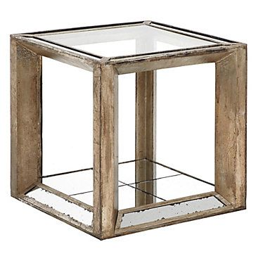 Pascual End Table Mirrored Furniture Accent Table Decor
