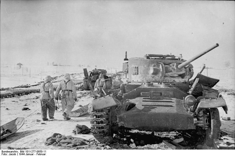 Destroyed Red Army Lend Lease British Valentine Mark Iii Tank Soviet Union January February 1944 800x534 Valentine Tank British Tank Tank