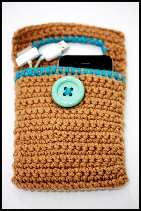 Crochet cell phone charger holder iphone fits all phones brown crochet cell phone charger holder iphone fits all phones brown dt1010fo