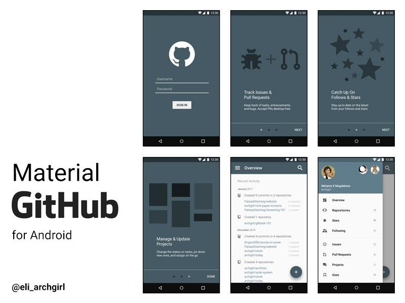 material github for android | material design products | pinterest, Presentation templates