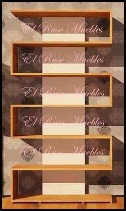Biblioteca minimalista moderna tipo s organizador repisa for Muebles bibliotecas para living