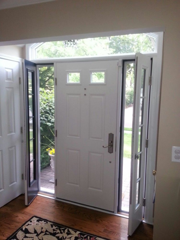 Therma Tru Smooth Star Door With Venting Sidelites House Doors