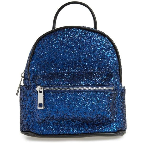 a3f92eaaa776 Street Level Glitter Zip Backpack (25 AUD) ❤ liked on Polyvore featuring  bags