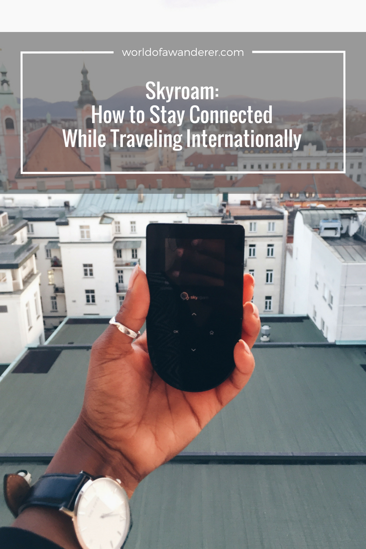 Stay connected while traveling internationally without the fear of roaming charges and the hassle of SIM cards. Skyroam portable wifi device has got you covered.