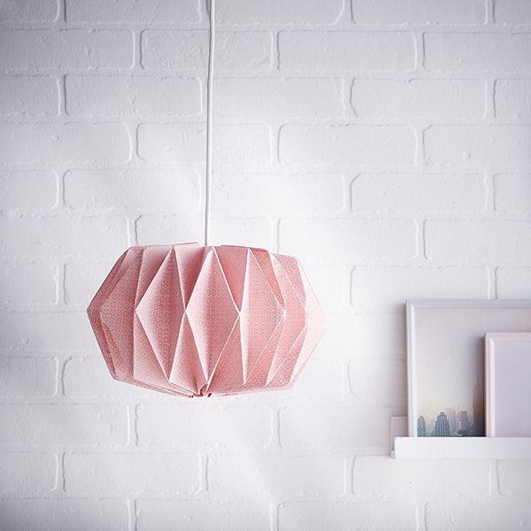 mon luminaire origami en papier diy diy luminaire origami et abat jour papier. Black Bedroom Furniture Sets. Home Design Ideas