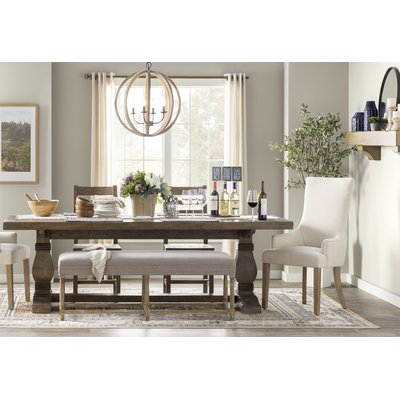 Gertrude Solid Wood Dining Table Casa Decoration Decoration