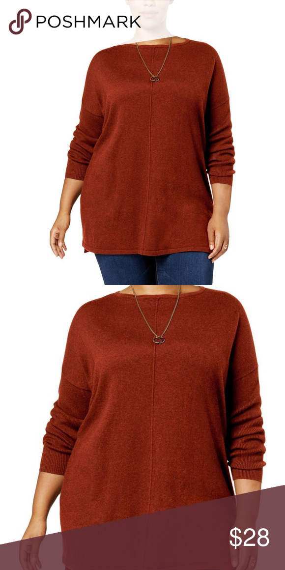Womens Sweater Top Plus STYLE   CO. 2044 Womens Hi-Low Boat Neck Fall Tunic  Sweater Top Plus Style   Co. represents the relaxed modern women with a  great ... b79820bc6