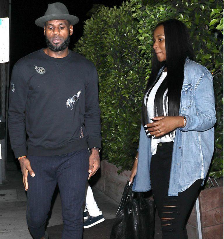 ccc6d929 LeBron James Seen In LA Wearing Lanvin Sweatshirt, Dries Van Noten Pants  And Clarks Shoes