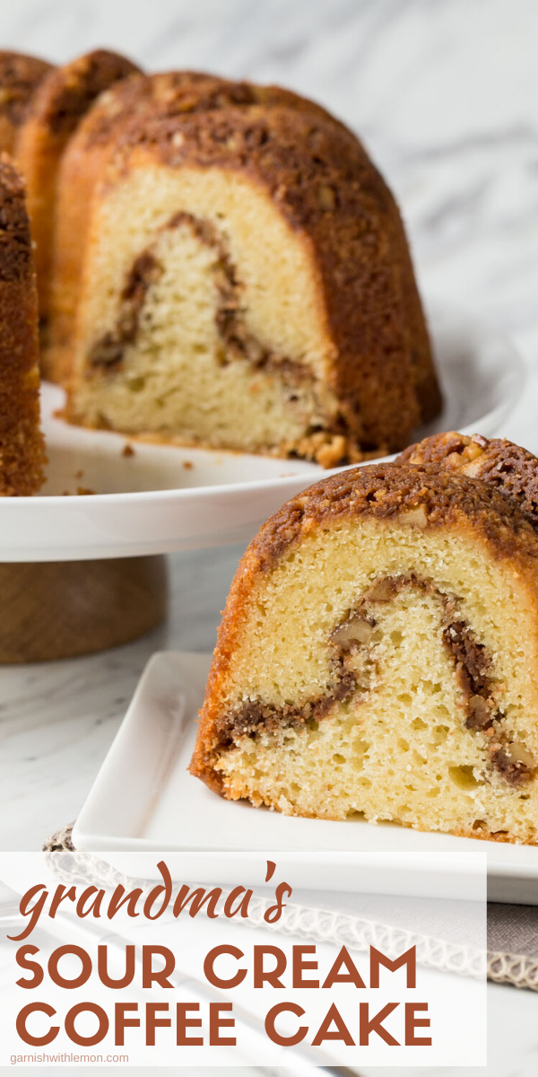 Sour Cream Coffee Cake Recipe In 2020 Coffee Cake Recipes Easy Coffee Cake Recipes Sour Cream Recipes