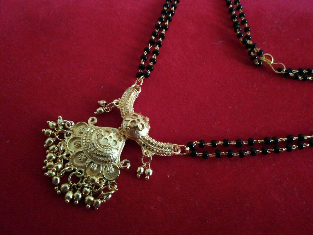 Muchmore Stunning Kundan CZ Fashion Jewelry Traditional Mangalsutra Golden Black Beads Chain Set yVNdxpwu
