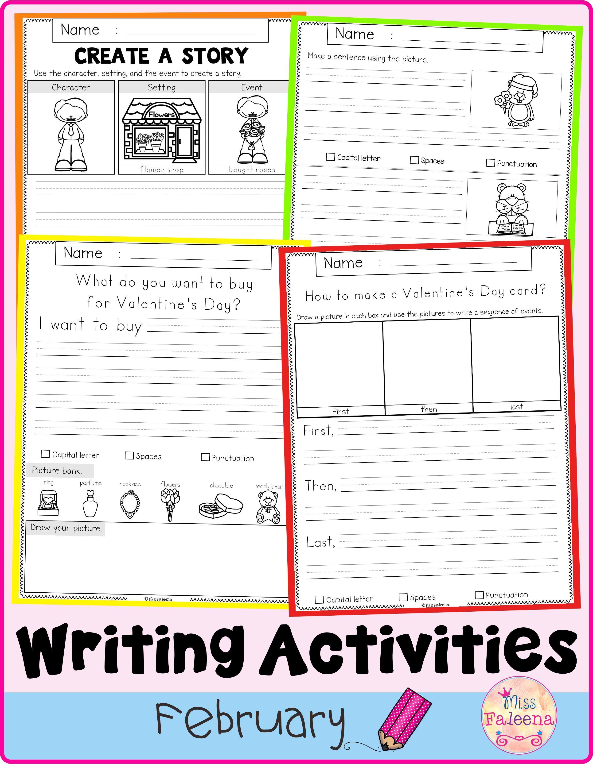 February Writing Activities