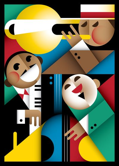 Jazz Art Print by Szoki