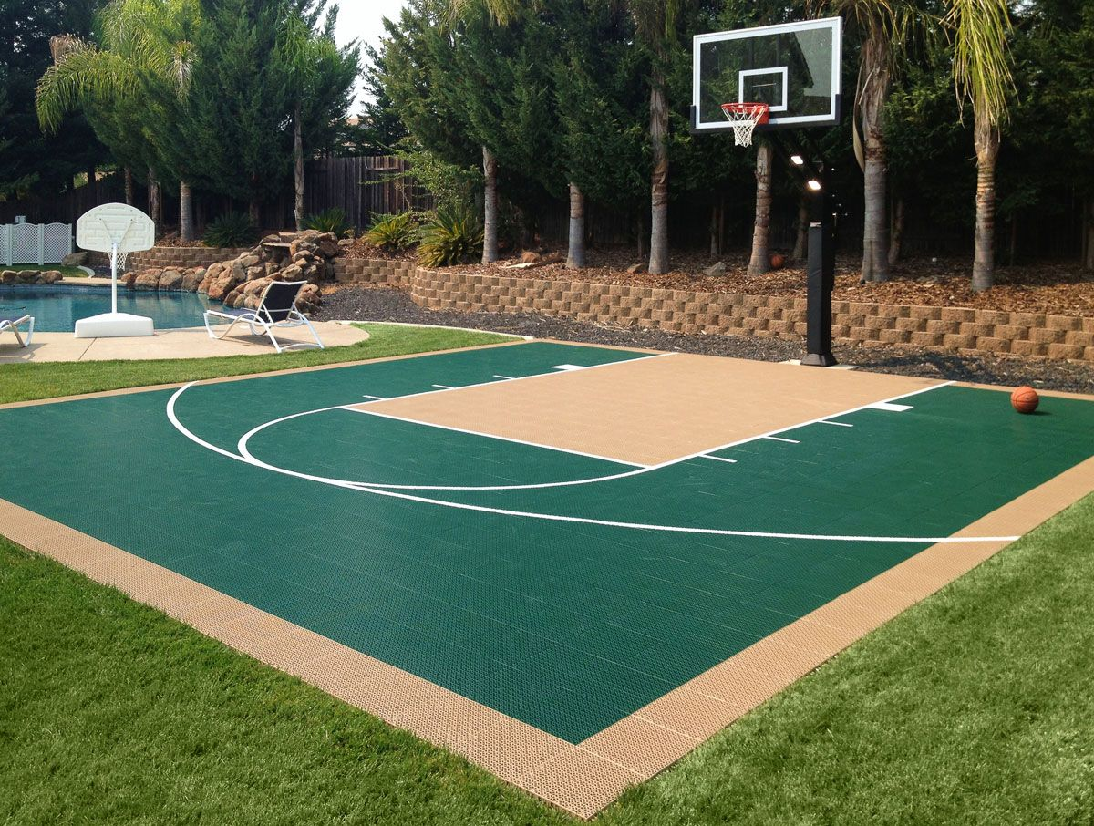 How Much To Build A Basketball Court In Backyard Outdoor