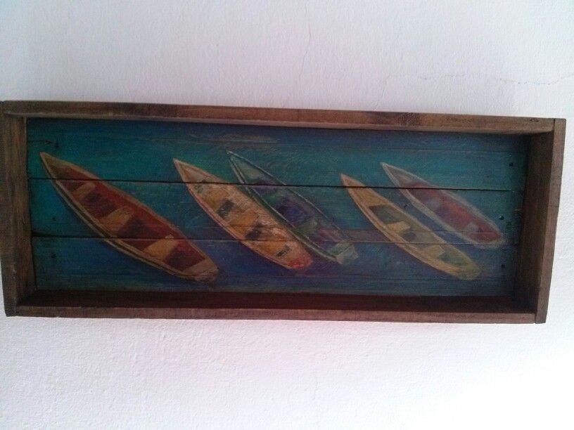 Pintura em madeira  Atelie Molinar