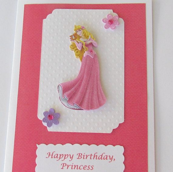 3D Sleeping Beauty Birthday Card Personalized Princess Aurora Disney Handmade Designs By AliA On Etsy 350