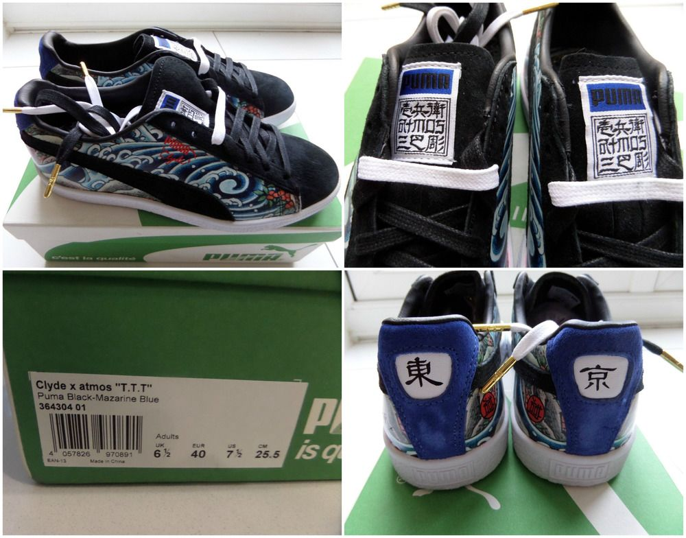 new style 78f49 b00a8 PUMA CLYDE X ATMOS T.T.T Three Tides Tattoo Trainers ICHIBAY ...