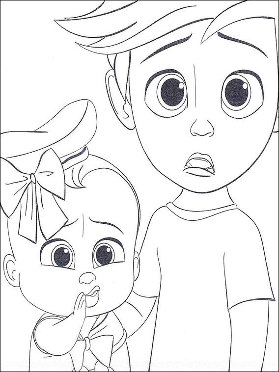 Boss Baby Coloring Pages 28