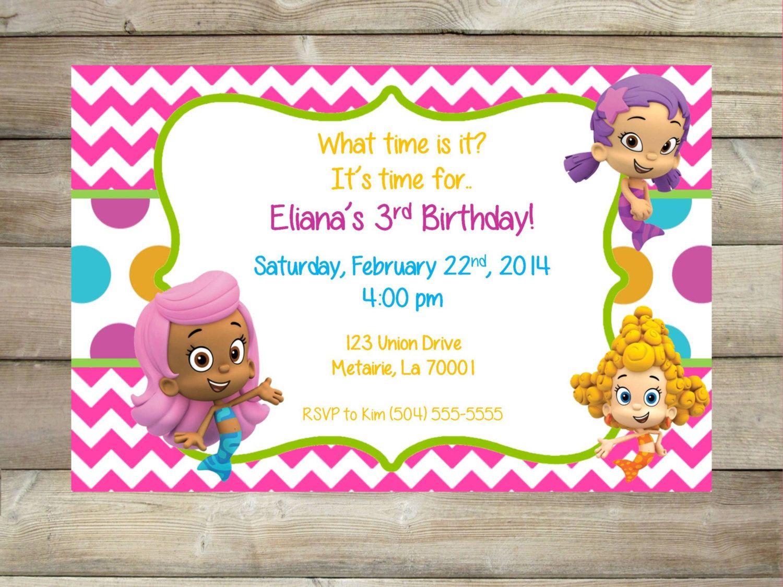 Bubble+Guppies+Invitation++Girls++Printable+by+SophiasThings,+$10.00 ...