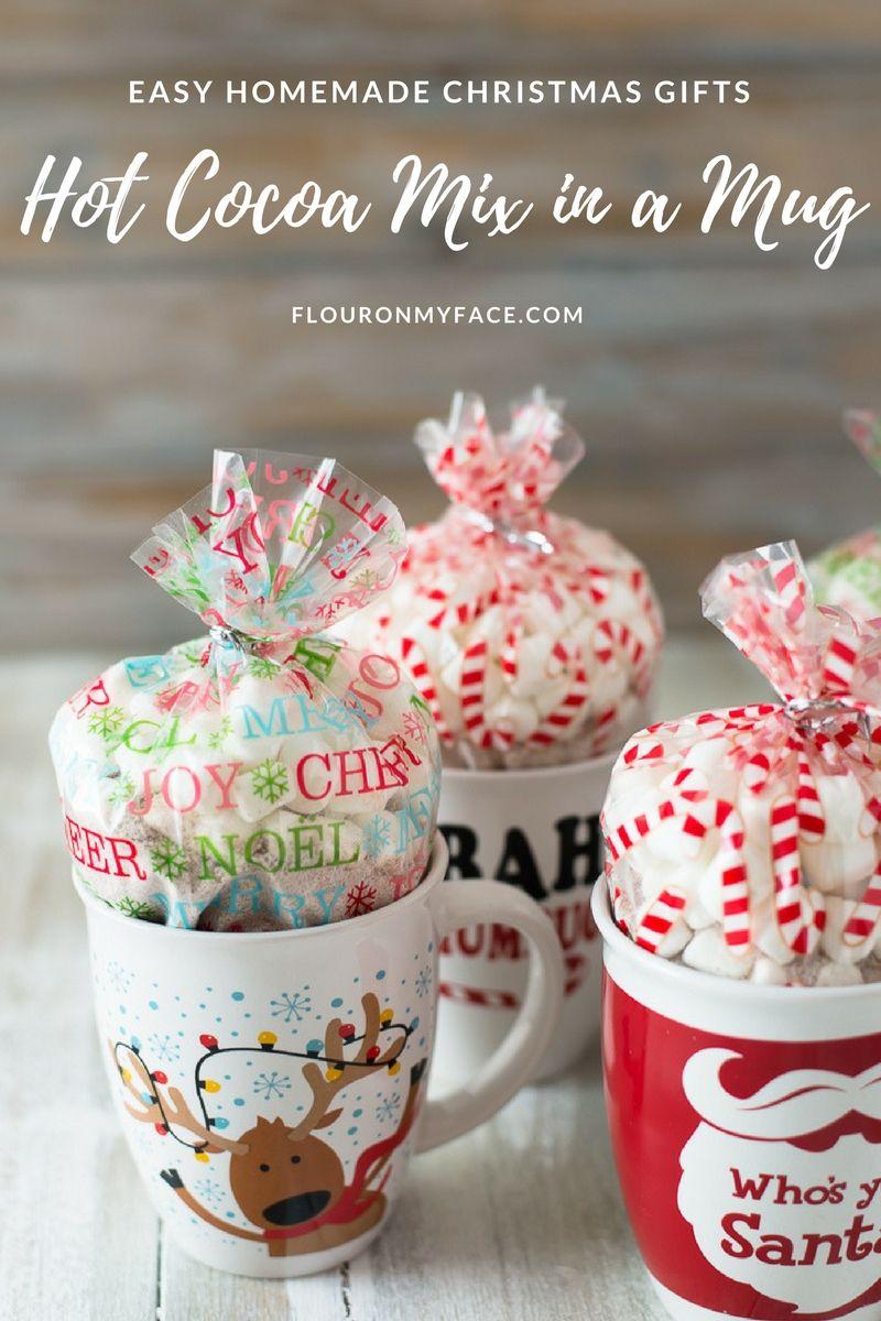 Homemade christmas peppermint hot cocoa mix recipe